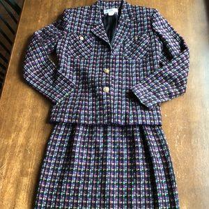 Lew Magram 2-pc Tweed Suit Size 6